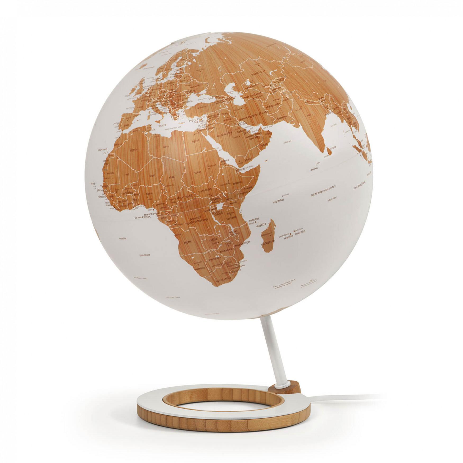Bamboo Illuminated Globe
