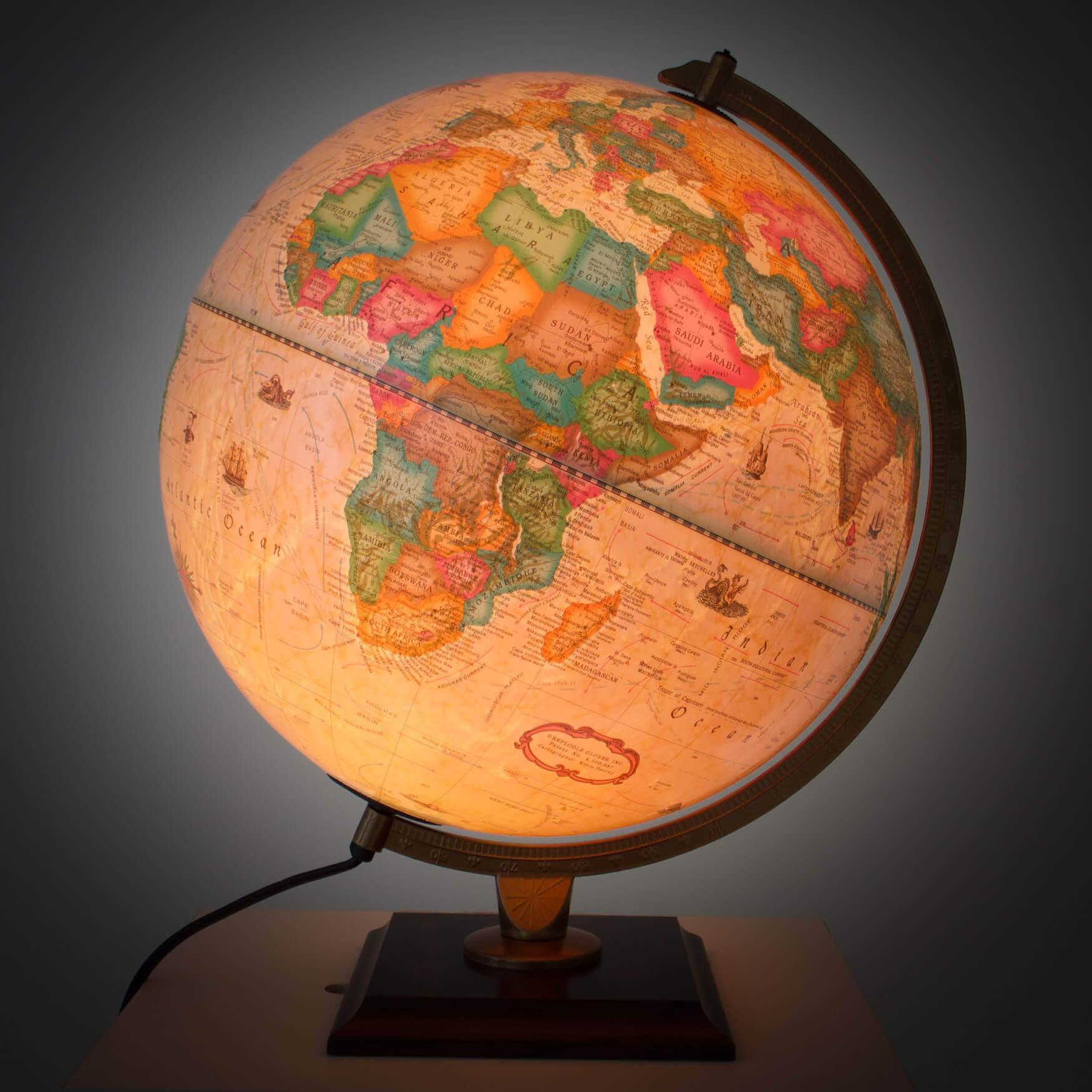 Carlyle Illuminated World Globe 30cm