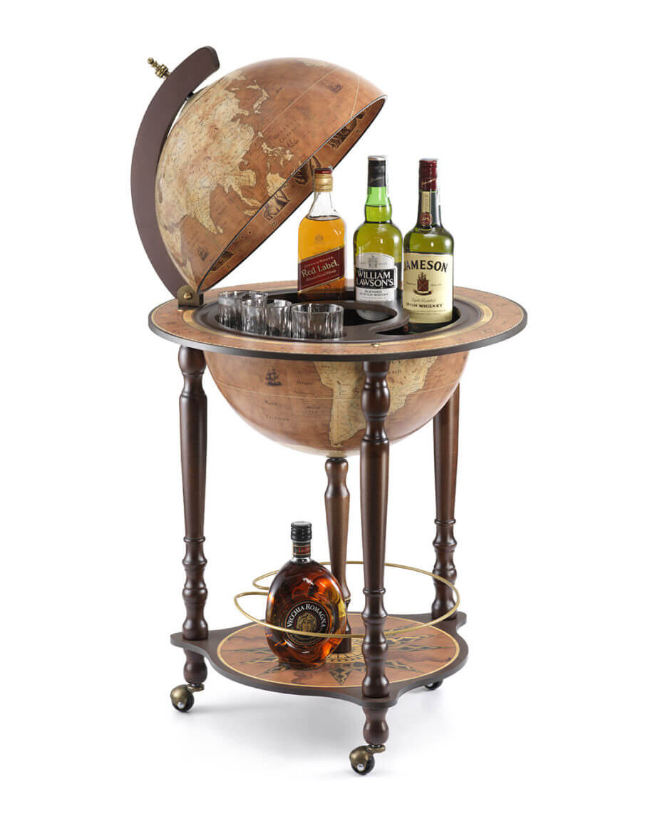 Da Vinci Rust Globe Bar