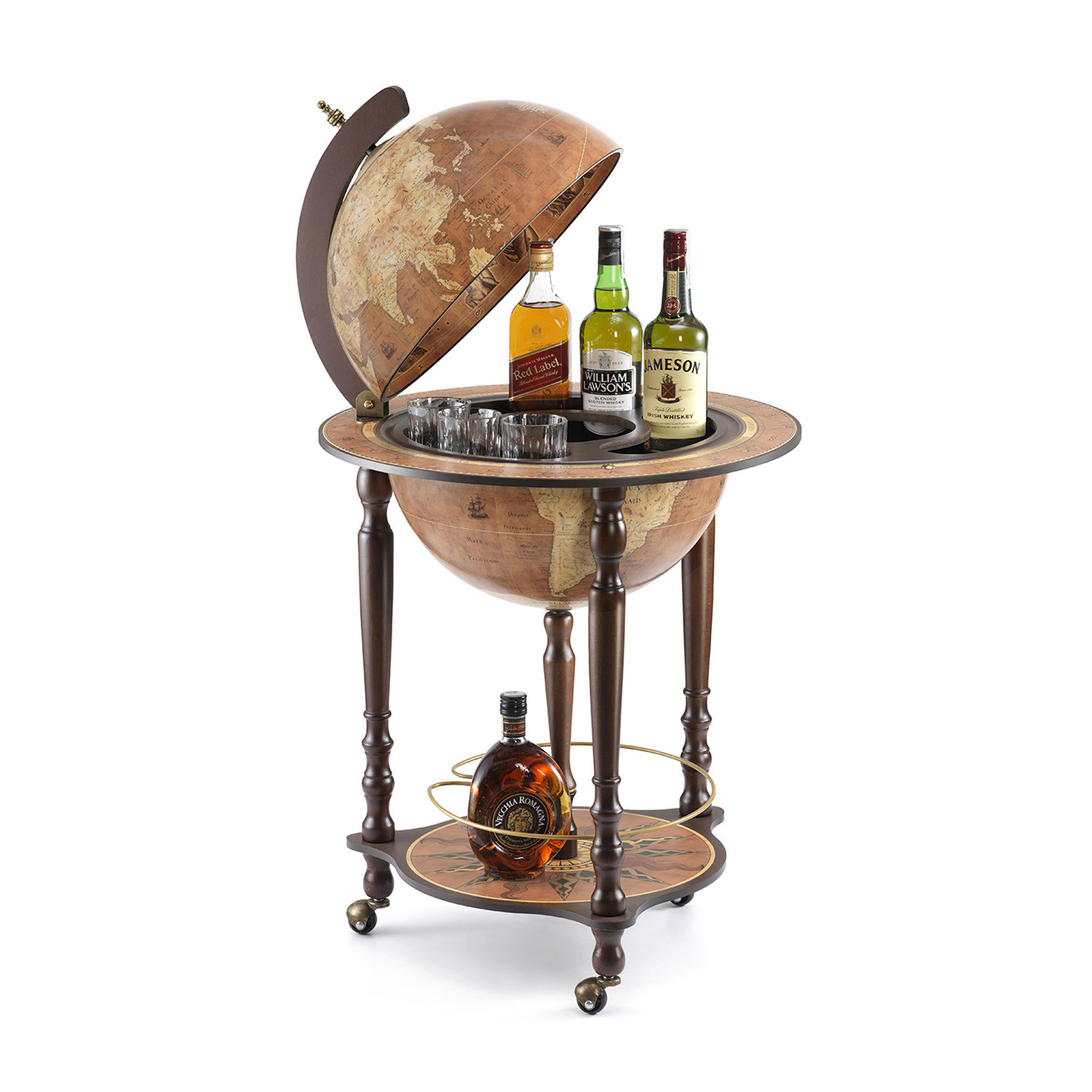 Da Vinci Rust Italian Globe Bar
