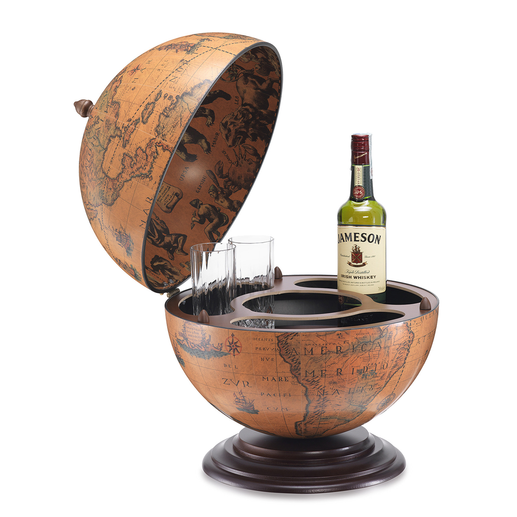 Dampier Italian Desk Globe Bar