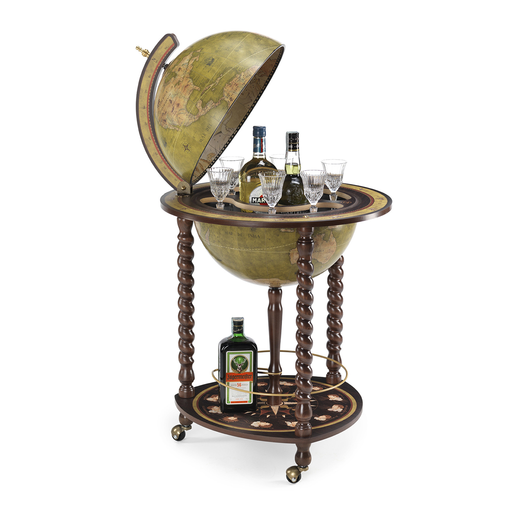 Explora Olive Green Italian Globe Bar