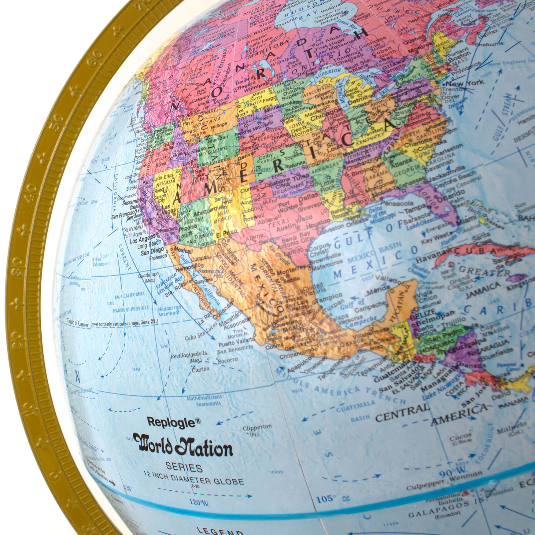 Map Of Uk On Globe.Explorer Globe Children S Globe With Blue Ocean And Highly