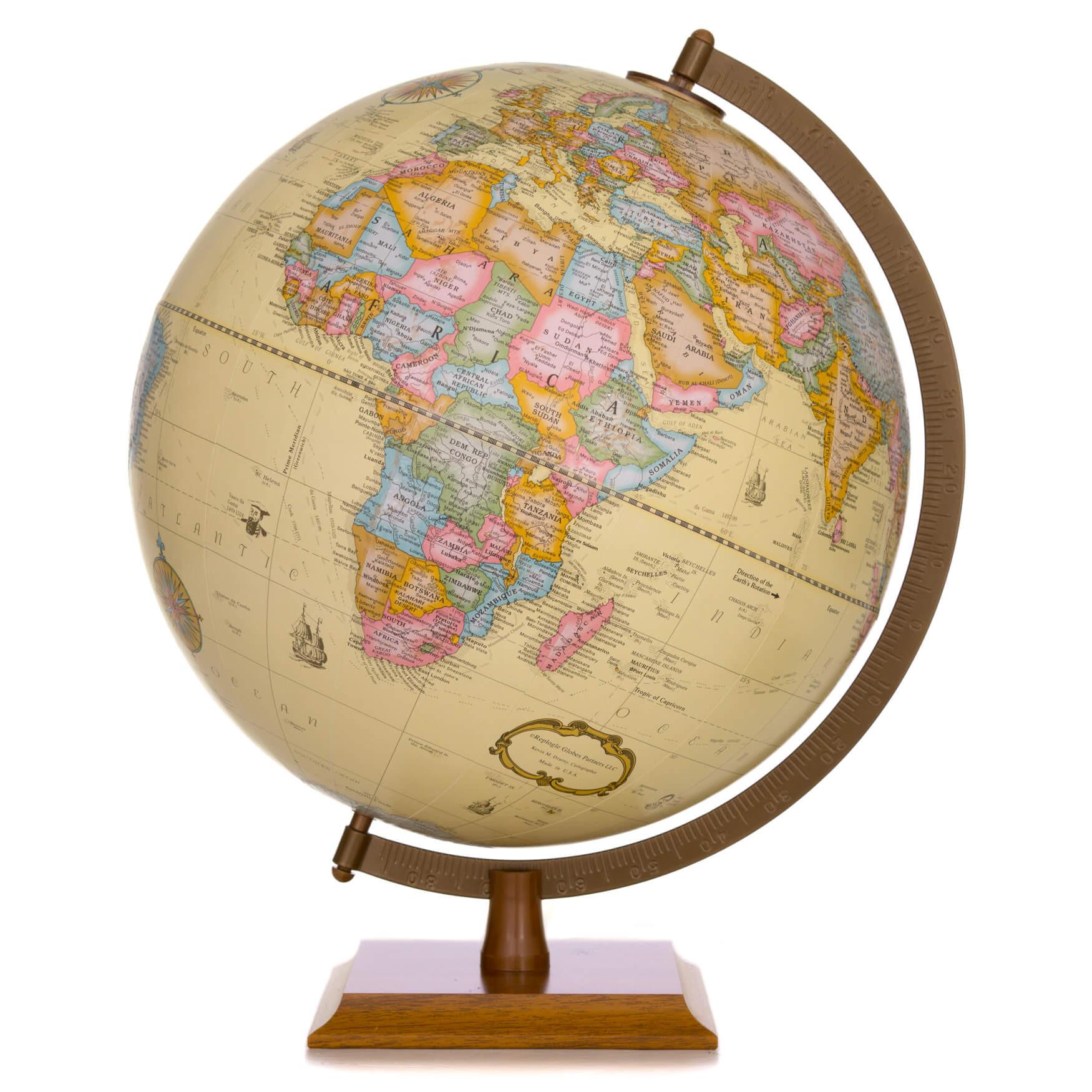 Globemaster Antique Desk Globe *Second*