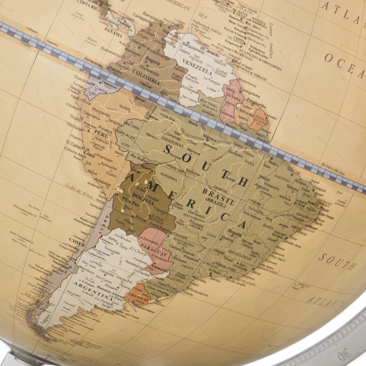 Map Of Uk On Globe.James Cook Antique Desk Globe Made In Italy Justglobes Uk