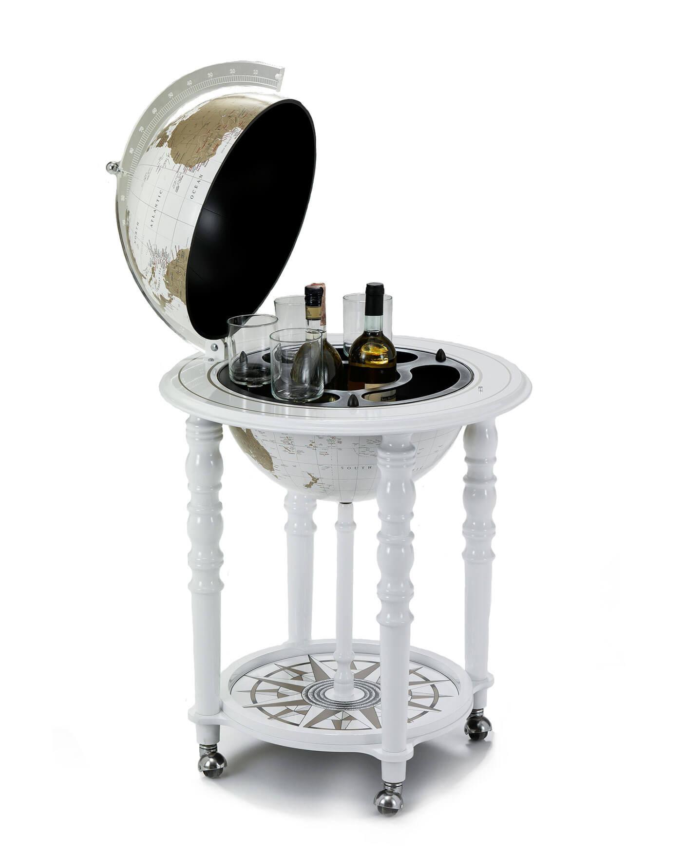 MacArthur White Italian Globe Bar