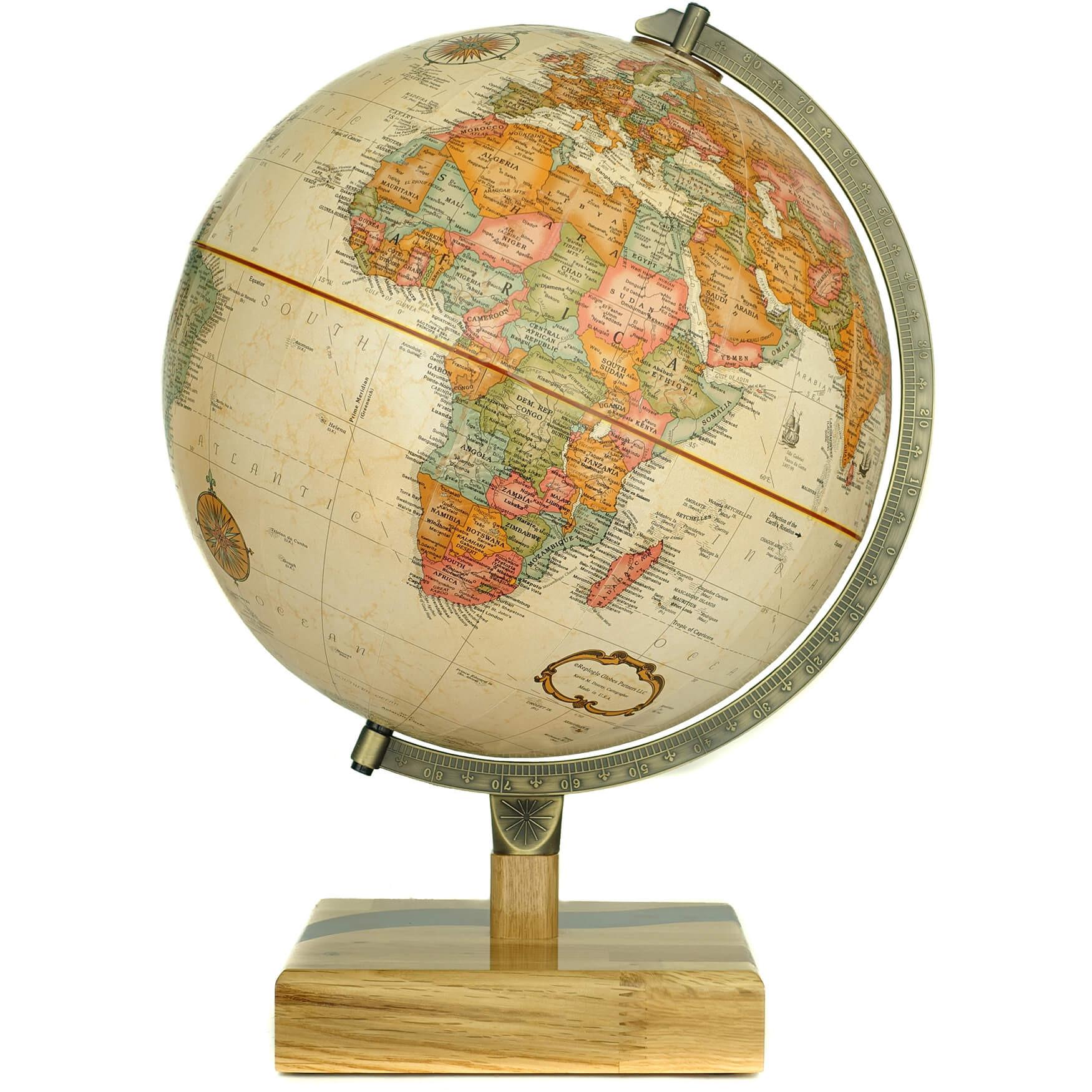 River European Walnut Globe