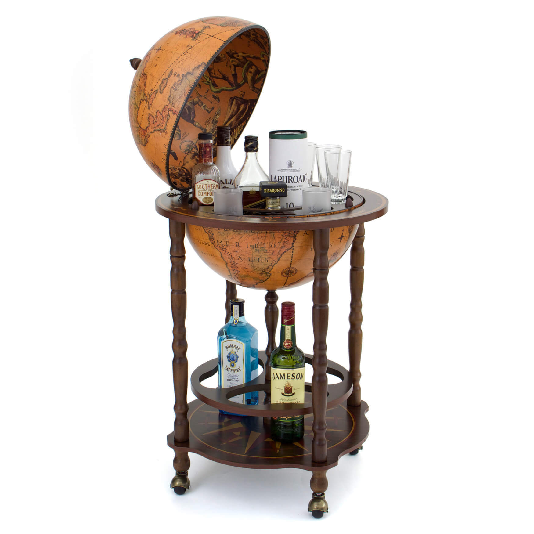 Scott Globe Bar with Open Drinks Cabinet