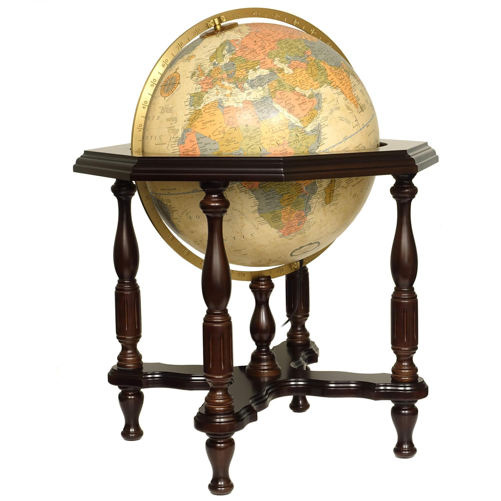 Statesman Antique Illuminated Globe
