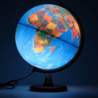 Hastings Blue Illuminated Globe