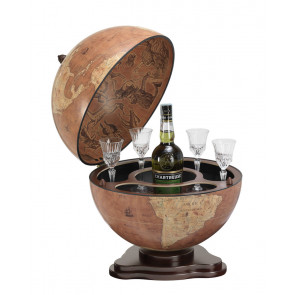 Galileo Italian Desk Globe Bar