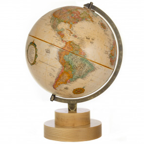 Chicago 'Ash Wood' Antique Globe