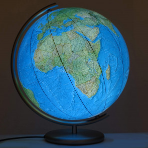 Black Forest Illuminated Glass Globe