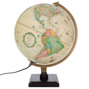 Bradley Antique Illuminated Globe