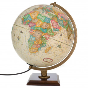 Carlyle Desk World Globe with Light Off Showing Africa