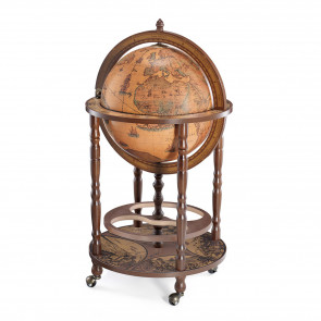 Columbus Brown Globe Bar Made in Italy
