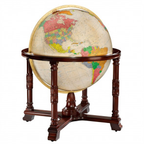 Diplomat Antique Illuminated Floor Globe