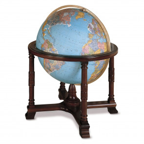 Diplomat Blue Illuminated Floor Globe