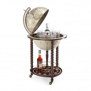 001 Explora Old White Italian Globe Bar *Ex Display*