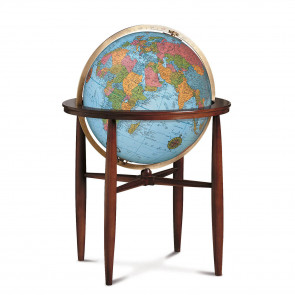 Finley Blue Illuminated Globe