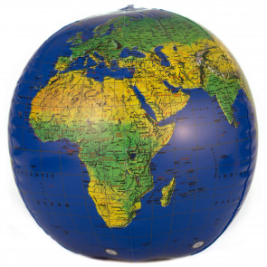 Dark Blue Topographical Inflatable Globe