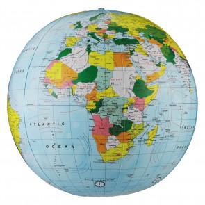 "Light Blue Political Inflatable Globe 30cm (12"")"