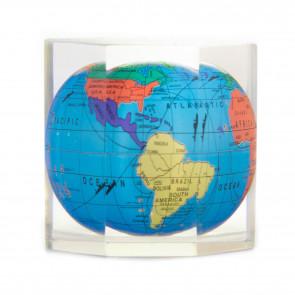 Octagon Globe Paperweight