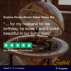 Explora Honey Brown Italian Globe Bar