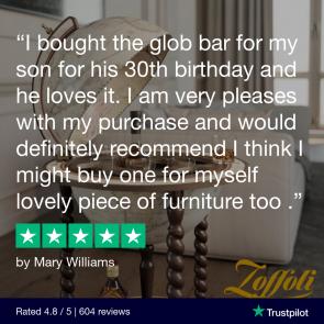 Explora Old White Italian Globe Bar